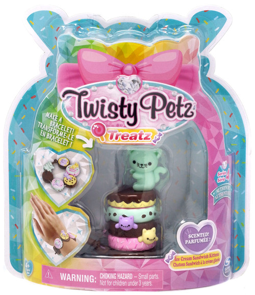 Twisty Petz Treatz Series 4 Ice Cream Sandwich Kittens Bracelet