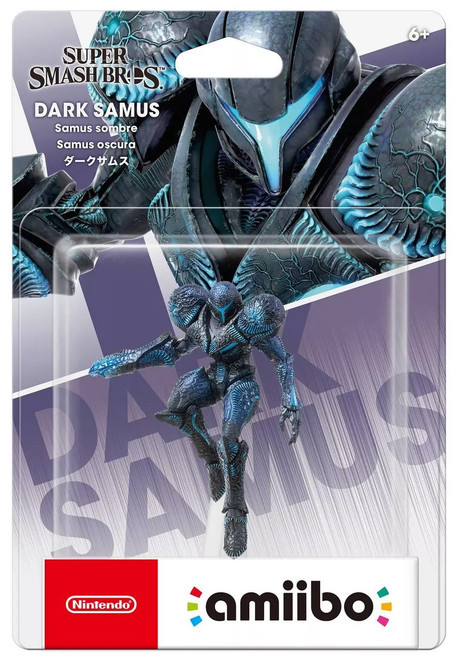 Nintendo Super Smash Bros Amiibo Dark Samus Mini Figure