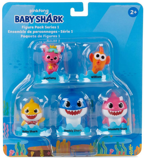 Pinkfong Baby Shark Series 1 Figure 5-Pack