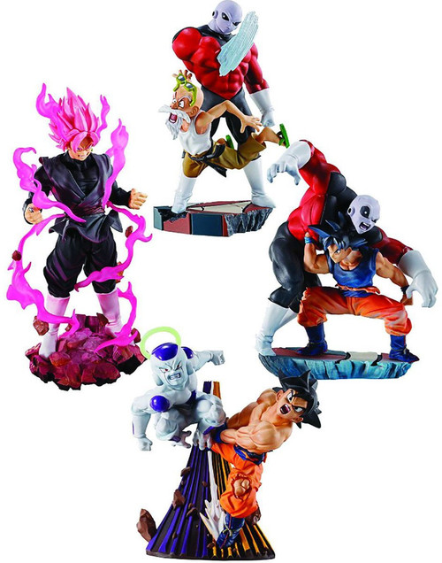 Dragon Ball Rebirth Dracap Goku & Jiren, Goku & Frieza, Goku Black, Master Roshi & Jiren Set of 4 Mini Figure Scenes