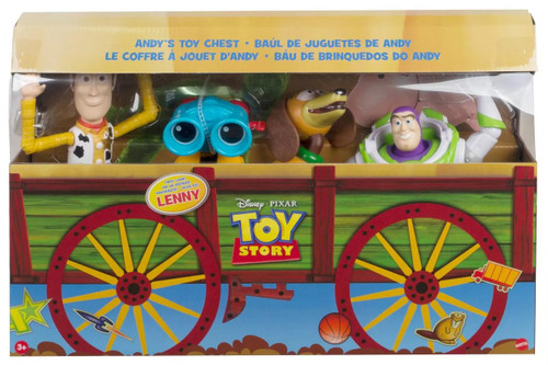 Toy Story 4 Woody, Lenny, Buzz & Slinky Dog Exclusive Action Figure 4-Pack [Andy's Toy Chest]