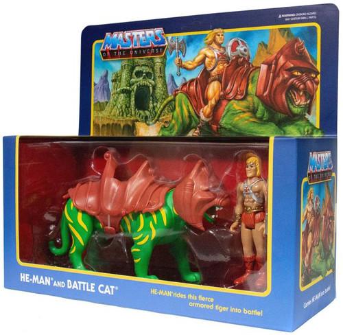 ReAction Masters of the Universe He-Man & Battle Cat Action Figure Set