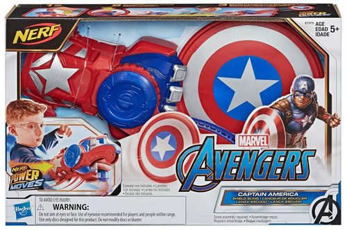 Marvel Avengers Endgame Nerf Power Moves Captain America - Shield Sling