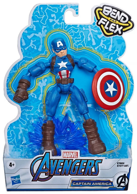 Marvel Avengers Bend & Flex Captain America Action Figure