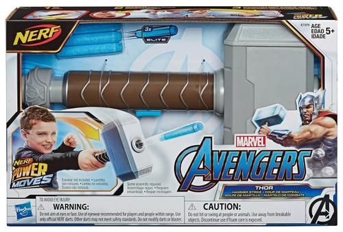 Marvel Avengers Endgame Nerf Power Moves Thor - Hammer Strike Roleplay Toy