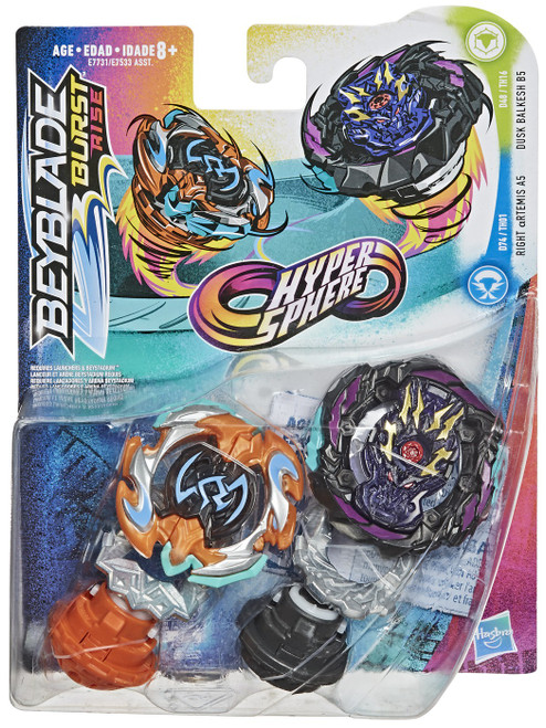 Beyblade Burst Rise Hypersphere Right Artemis A5 & Dusk Balkesh B5 Dual Pack