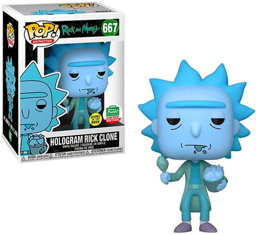 Funko Rick & Morty POP! Animation Hologram Rick Clone Exclusive Vinyl Figure #667 [Glow in the Dark]