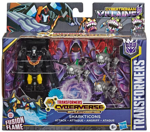 Transformers Cyberverse Battle For Cybertron Sharkticons Attack Play Set [Stealth Force Hot Rod & 3x Sharkticons]