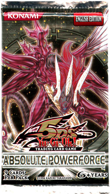 YuGiOh Trading Card Game Absolute Powerforce (Unlimited) Booster Pack [9 Cards]