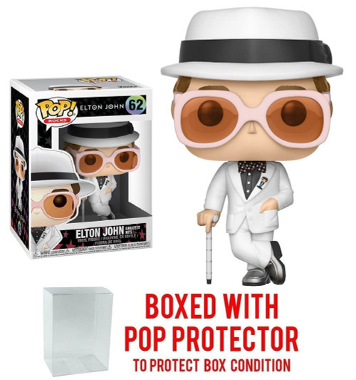 Funko POP! Rocks Elton John Vinyl Figure [White Suit, Greatest Hits With Pop Protector]