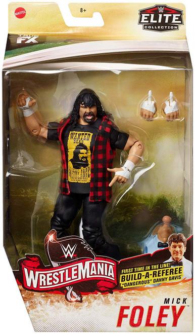 "WWE Wrestling Elite Collection WrestleMania 22 Mick Foley Action Figure [Build Referee ""Dangerous"" Danny Davis!, Damaged Package]"