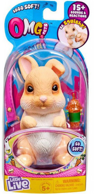 Little Live Pets OMG Pets Tan Bunny Rabbit Electronic Pet