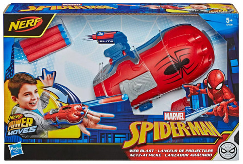 NERF Spider-Man Far From Home Power Moves Web Blast Roleplay Toy