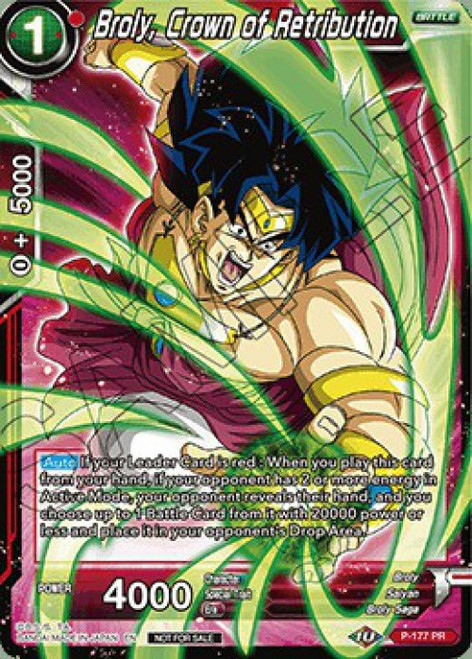 Dragon Ball Super Collectible Card Game Promo Broly, Crown of Retribution P-177