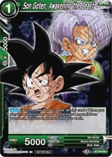 Dragon Ball Super Collectible Card Game Promo Son Goten, Awakening the Beast P-179