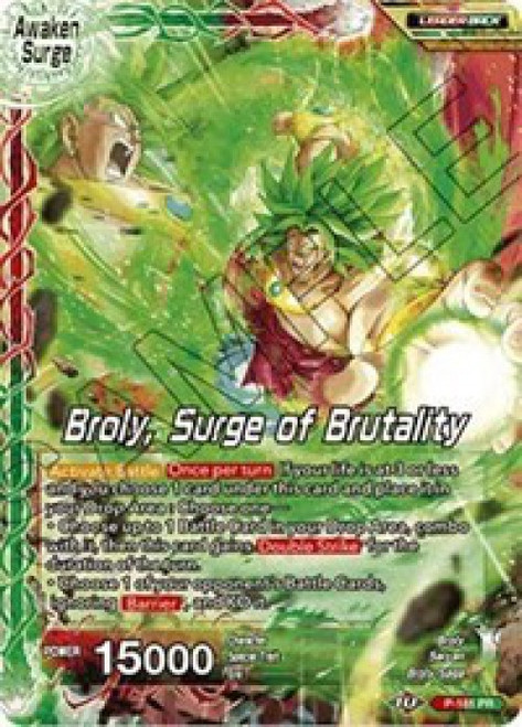 Dragon Ball Super Collectible Card Game Promo Broly // Broly, Surge of Brutality P-181