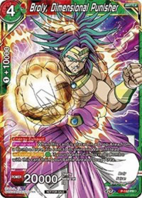 Dragon Ball Super Collectible Card Game Promo Broly, Dimensional Punisher P-182