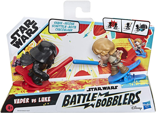 Star Wars Battle Bobblers Luke Skywalker & Darth Vader Mini Figure 2-Pack