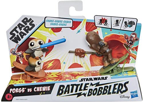 Star Wars Battle Bobblers Porgs Vs. Chewie Mini Figure 2-Pack