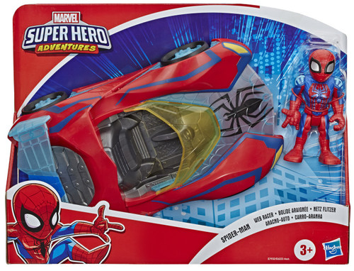 Marvel Playskool Heroes Super Hero Adventures Spider-Man Web Racer Action Figure & Vehicle