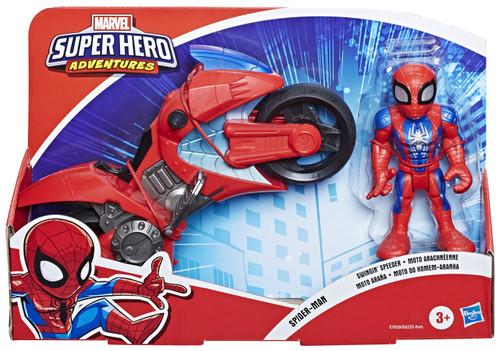 Marvel Playskool Heroes Super Hero Adventures Spider-Man Swingin' Speeder Action Figure Set