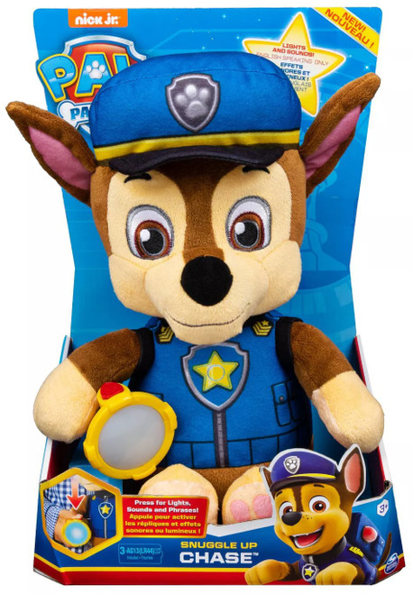 Paw Patrol Snuggle Up Chase Talking Plush [Lights & Sounds, 2020]