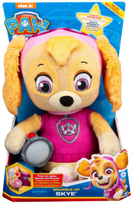 Paw Patrol Snuggle Up Skye Talking Plush [Lights & Sounds, 2020]