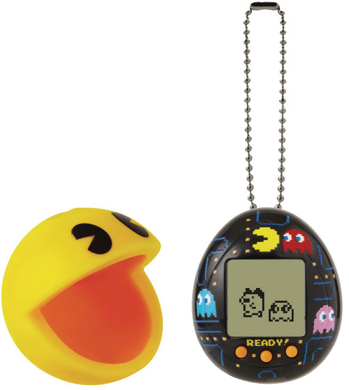 Tamagotchi x Pacman 1.5-Inch Virtual Pet Toy [Black, with Case] (Pre-Order ships July)