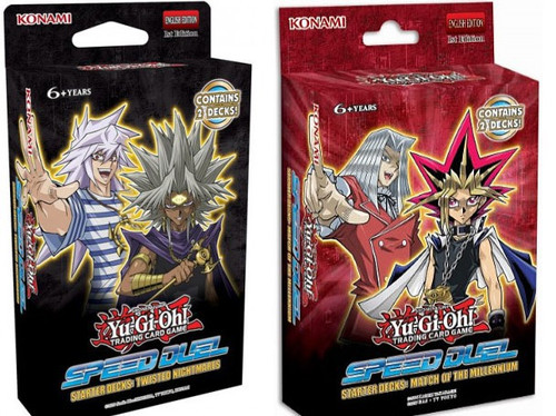 YuGiOh Trading Card Game Speed Duel Twisted Nightmares & Match of the Millennium Set of Both Starter Decks