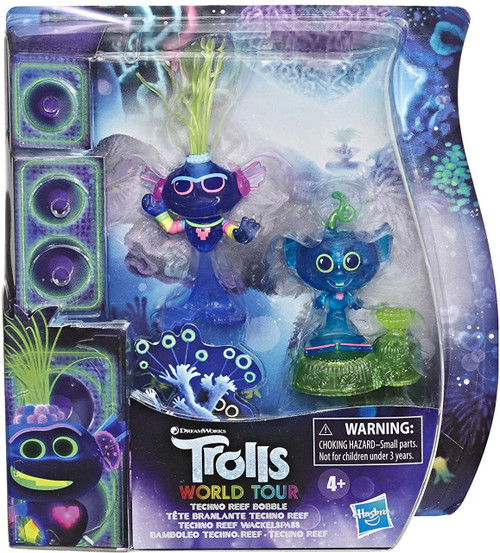 Trolls World Tour Techno Reef Bobble 2-Inch Figure 2-Pack