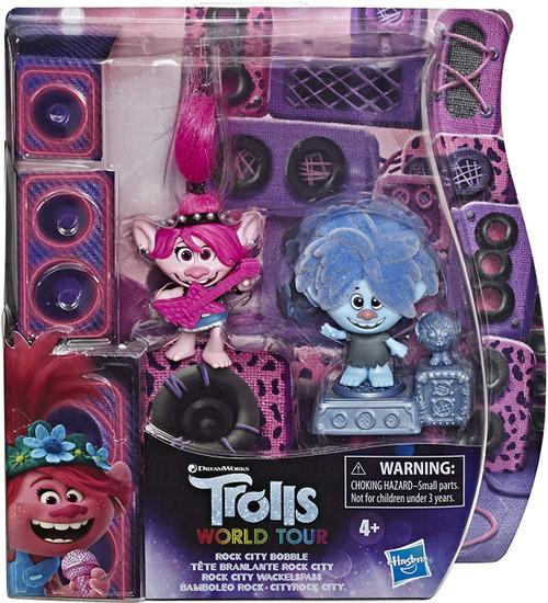 Trolls World Tour Rock City Bobble 2-Inch Figure 2-Pack