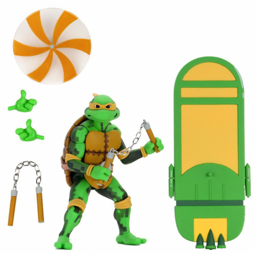 NECA Teenage Mutant Ninja Turtles Turtles in Time Series 2 Michelangelo Exclusive Action Figure