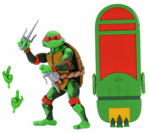 NECA Teenage Mutant Ninja Turtles Turtles in Time Series 2 Raphael Exclusive Action Figure