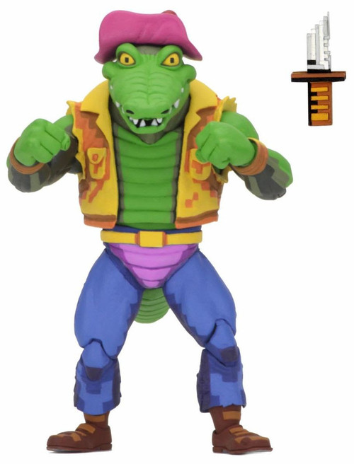 NECA Teenage Mutant Ninja Turtles Turtles in Time Series 2 Leatherhead Exclusive Action Figure