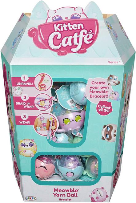 Kitten Catfe Series 1 Meowble Yarn Ball Bracelet Mystery Box [24 Packs]