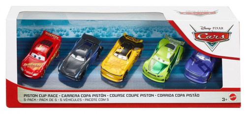 Disney / Pixar Cars Cars 3 Piston Cup Race Diecast Car 5-Pack [Leak Less #52, Danny Swervez, Rust-Eze McQueen, Jackson Storm & Chase Racelott]