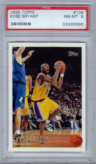 Topps NBA 1996/97 Kobe Bryant Graded Rookie Card #138 [PSA 8]