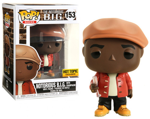 Funko POP! Rocks Notorious BIG (Biggie Smalls) Exclusive Vinyl Figure #153 [Holding Champagne Glass]