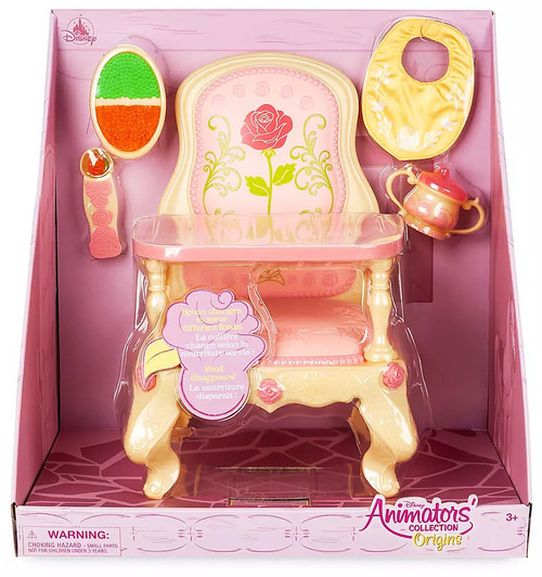Disney Princess Beauty and the Beast Animators' Collection Belle Feeding High Chair Exclusive Doll