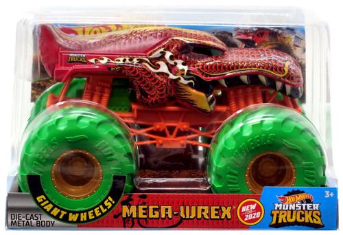 Hot Wheels Monster Trucks Mega-Wrex Diecast Car [Green Wheels]