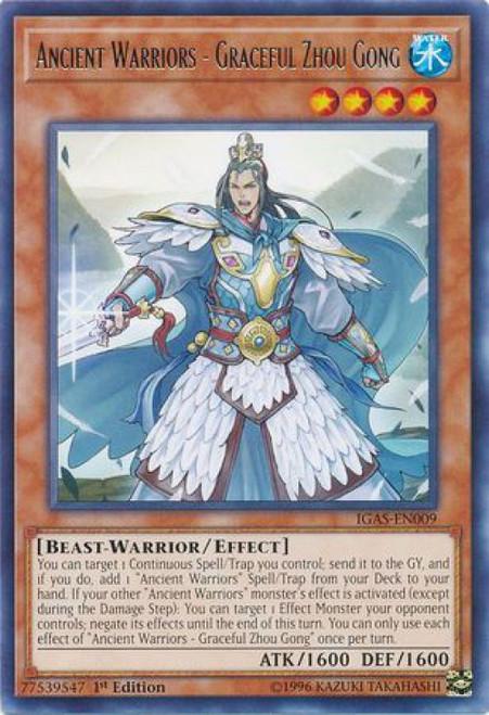 YuGiOh Ignition Assault Rare Ancient Warriors - Graceful Zhou Gong IGAS-EN009