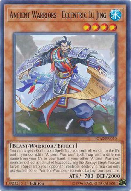YuGiOh Ignition Assault Rare Ancient Warriors - Eccentric Lu Jing IGAS-EN010