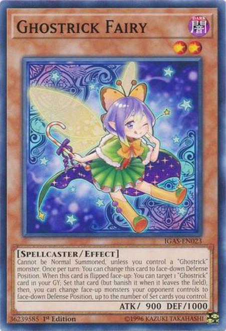 YuGiOh Ignition Assault Common Ghostrick Fairy IGAS-EN023
