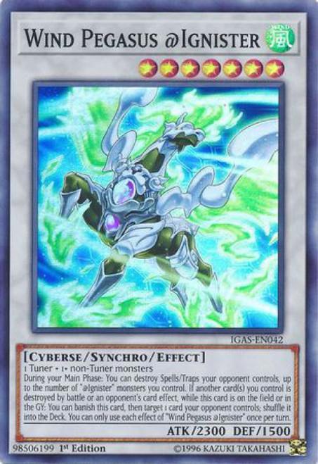 YuGiOh Ignition Assault Super Rare Wind Pegasus @Ignister IGAS-EN042