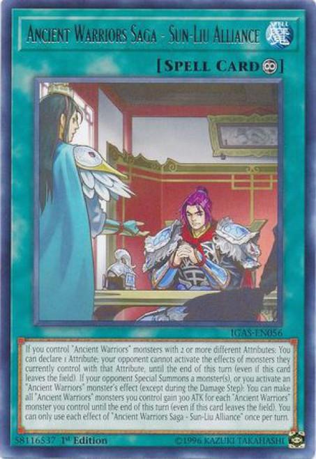 YuGiOh Ignition Assault Rare Ancient Warriors Saga - Sun-Liu Alliance IGAS-EN056