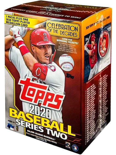 MLB Topps 2020 Series 2 Baseball Trading Card BLASTER Box [7 Packs + 1 Medallion Card]