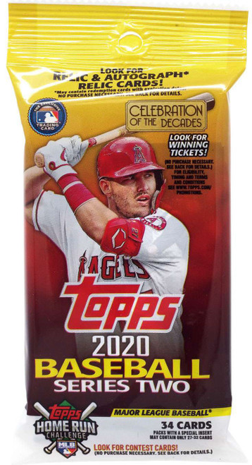 MLB Topps 2020 Series 2 Baseball Trading Card VALUE Pack [34 Cards]
