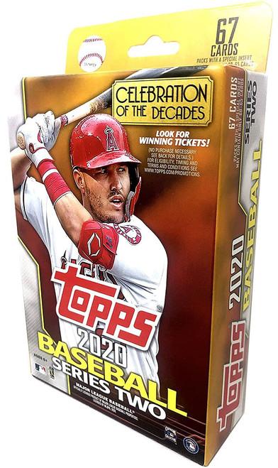 MLB Topps 2020 Series 2 Baseball Trading Card HANGER Box [67 Cards]