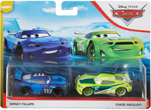 "Disney / Pixar Cars Cars 3 ""Next-Gen"" Piston Cup Racers Spikey Fillups & Chase Racelott Diecast 2-Pack"