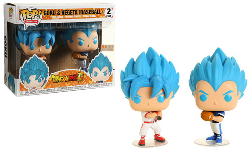 Funko Dragon Ball Z POP! Animation Goku & Vegeta Exclusive Vinyl Figure 2-Pack [Baseball]